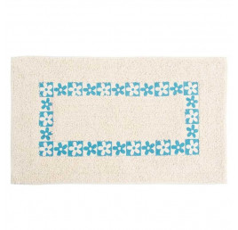 Tapis de bain bleu ciel en coton 70 x 40 cm
