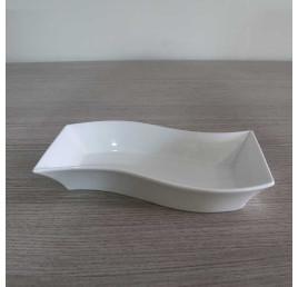 Assiette de présentation creuse ZIGZAG en porcelaine