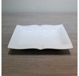 Assiette plate LIVRE en porcelaine