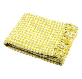 Plaid PICTAVE jaune 130x150 cm coton