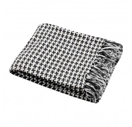 Plaid PICTAVE anthracite 130x150 cm coton