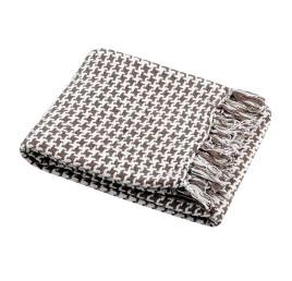 Plaid PICTAVE taupe 130x150 cm coton