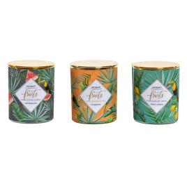 Bougie TROPICAL parfumé en verre 6.5x6.5x7.5 cm
