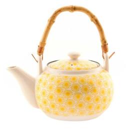 Théière japonais jaune en porcelaine