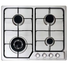 Table de cuisson noir en inox 60 à 4 feux CATA XB 631