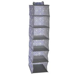 Organisateur géométrique PVC bleu 15x30x123 cm