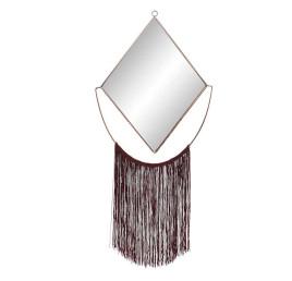 Miroir FLECOS rouge bordeaux en métal 31x69 cm