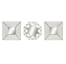 Set de 3 Miroir géométrique doré
