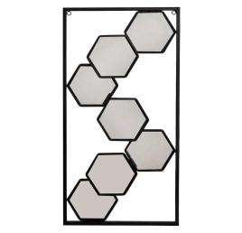 Miroir HEXA en métal 25x50x3 cm