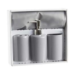 Set de 4 accessoires de salle de bain en gris