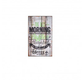 Tableau COFFE en bois effet vielli