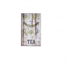 Tableau TEA en bois effet vielli