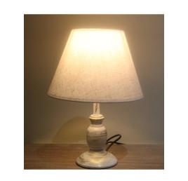 lampadaire en blanc décapé