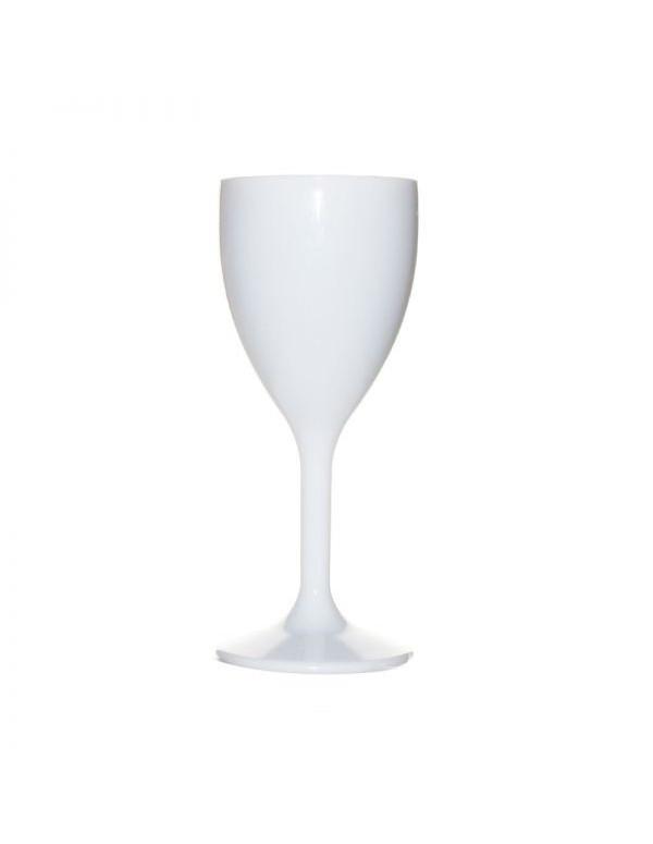verre à pied en blanc