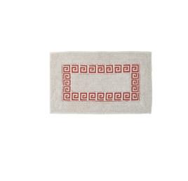 Tapis de bain motif versace ROUGE en coton 70X40 cm