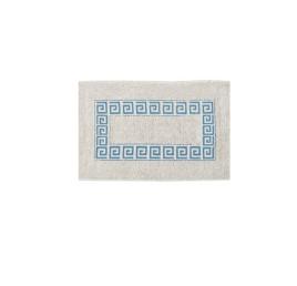 Tapis de bain motif versace BLEU CIEL en coton 70X40 cm