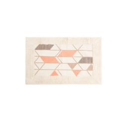 Tapis de bain Pyramide Orangé en coton 80X50