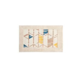 Tapis de bain Pyramide Jaune en coton 80X50