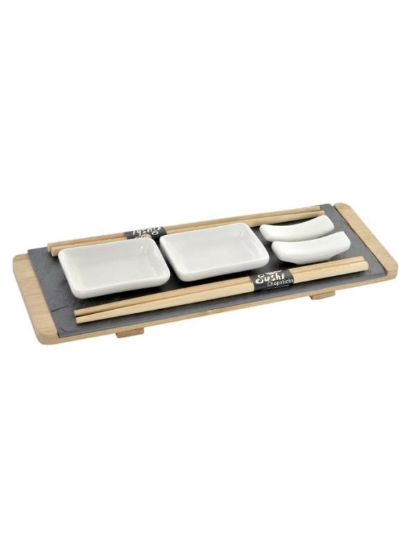 Set de planche ardoise SUSHI 6 piéces 30X10X3,5 cm