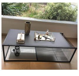 Table Basse en métal noir