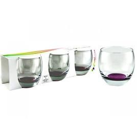 Set de 3 verres BAREL en violet 34 cl