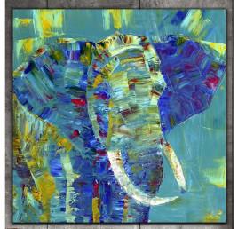 Tableau éléphant 45x45 cm
