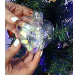 Set de 3 Boules transparante cœur