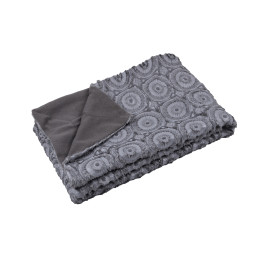 Plaid HAWK anthracite 130x160 cm 100% Polyester