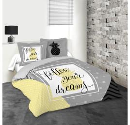Housse de couette DREAMs100% coton 240X220 cm
