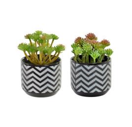 Plante artificielle en CÉRAMIQUE noir 8X13 cm 2 MOD