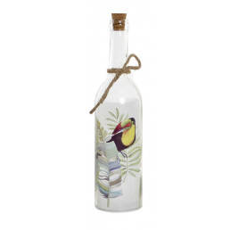 LED BOUTEILLE DE DECORATION TOUCAN 7,3X7,3X29