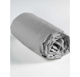 Drap housse 100% coton en gris 260x240 cm