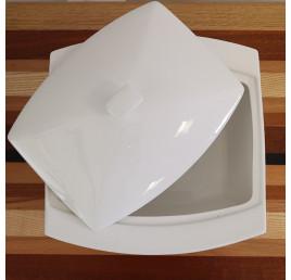 Soupière avec couvercle en porcelaine