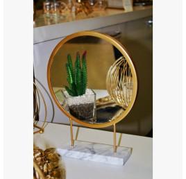 Miroir à poser doré 20X26 cm