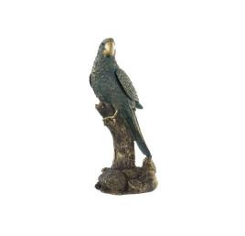 Fiigure perroquet en résine vert menthe 13X9X25 cm
