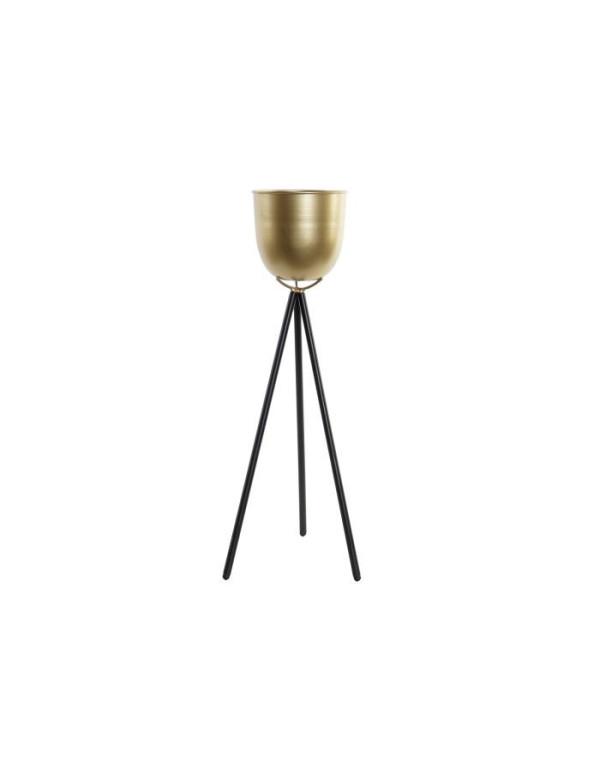 Support pot en métal doré 23X23X60 cm