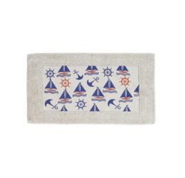 Serviette de bain Marin en bleu marine 70X40 cm