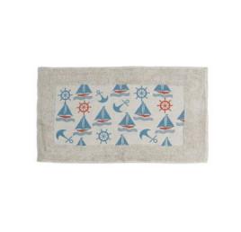 Serviette de bain Marin en bleu ciel 70X40 cm