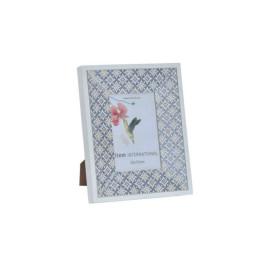 Cadre photo carrelage naturel en blanc 10X15 cm