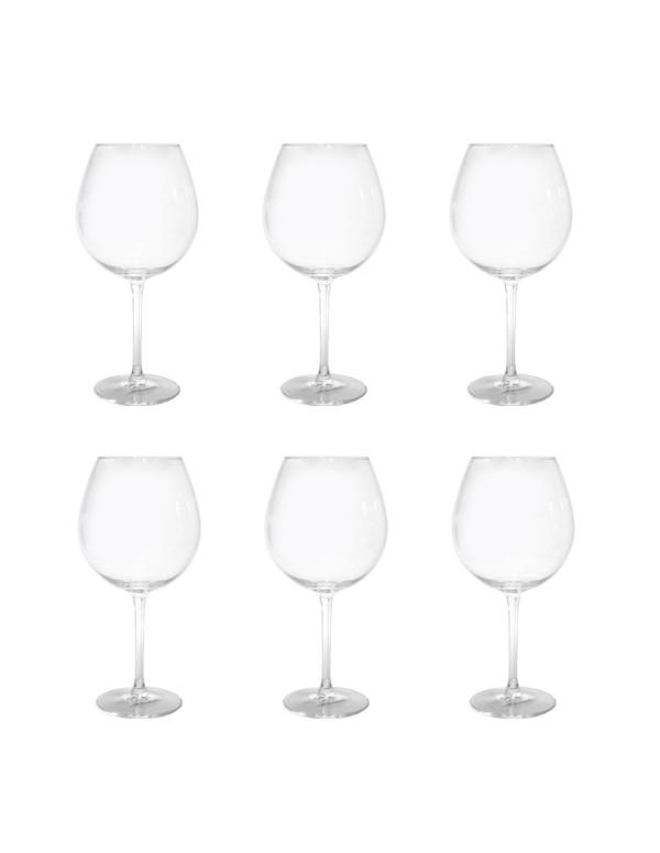 """Set de 6 verres à pied cristal bohemia """"XXL"""" 72CL"""