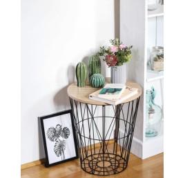 Table basse en métal noir moyen modél