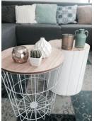 Table basse en métal blanc petit modél