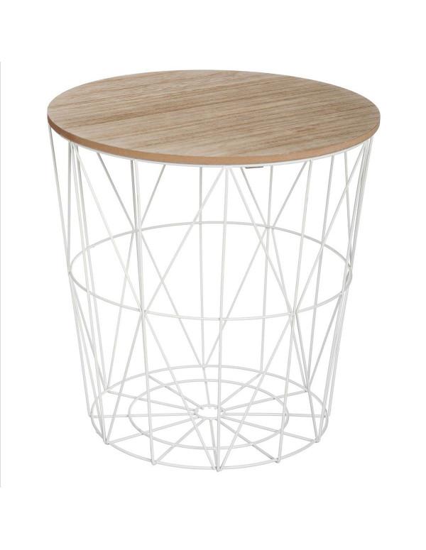 Table basse en métal blanc grand modél