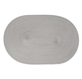 Sous plat ovale en gris