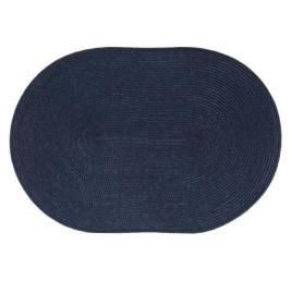 Sous plat ovale en bleu