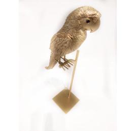 Décoration perroquet en métal doré