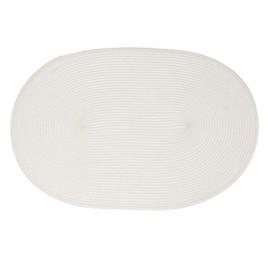 Sous plat ovale en blanc