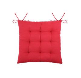 Galette de chaise USED en rouge 40x40 cm
