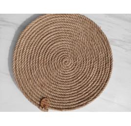 Sous plat rond en fibre