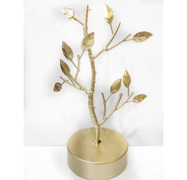 Décoration à poser forme arbre en doré 24x17 cm